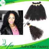 Aofa Kinky Curly Hair Bulk Human Remy Virgin Hair Extension