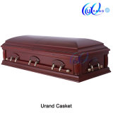 Oversize Mahogany Veneer Cherry Color Kenya Coffin and Casket