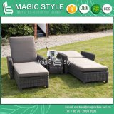 Rattan Sunlounger Wicker Sun Bed Outdoor Daybed Deck Daybed Hotel Project Leisure Daybed Chaise Lounge Patio Furniture Garden Furniture (Magic Style)