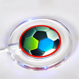 Modern Colorful Soccer Pattern Wireless Charger Compatible with Qi Standard