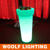 Rotating Plastic Decoration Color LED Flower Pot