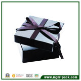 Good Quality Black Paper Chocolate Packaging Box with Ribbon