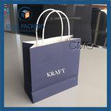Custom Kraft Paper Twisted Handle Shopping Bag