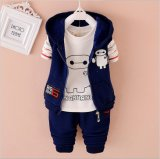 2015 Newest Baymax Kid Suits Autumn Winter Long Sleeve Suits Boy Clothes T-Shirt+ Jacket+Pants Three-Piece Suits for Wholesale