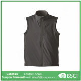 Unisex′s Softshell Fabric Vest with Stand Collar