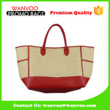Women′s Newest Handmade Straw Tote Handbag Leisure Beach Bag