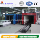 Clay Brick Tunnel Kiln with Natual Gas Firing System