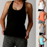 Women Promotional Singlet, Cotton Black Tank Top/Vest (A855)
