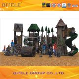 Resin Kids / Children Outdoor Playground Equipment with Tunnel Slide