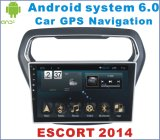 Android System 6.0 Car GPS for Ford Escort 2014 with Car DVD Player