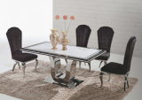 20mm Marble Top Dining Table Set for Hotel Furniture