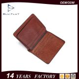 2016 Latest Fashion Customized Design Genuine Natural Grain Leather Wallet for Men