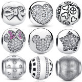 Wholesale Round Beads 925 Sterling Silver Charms
