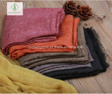 100% Tr Cotton Plain Muslim Hijab Shawl Fashion Lady Scarf