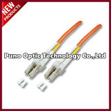 OM2 LC-LC Simplex Fiber Optic Patch Cord with PVC Orange Jacket