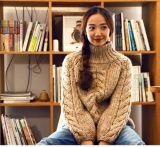 Customized Soft Hand Knit Knitting Winter Sweater Cardigan Coat Apparel