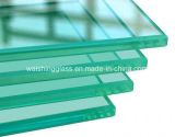 8mm 10mm Super Clear Flat Polised Clear Tempered Glass