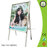 32mm Round Corner Aluminum 2 Sides Poster Stand Advertising