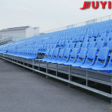 Retractable Seating System with HDPE Plastic Seats for Outdoor Use