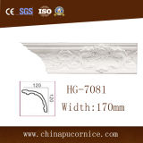 Large Face 17cm PU Crown Ceiling Moulding for High Building
