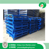 Folding Steel Turnover Container for Warehouse by Forkfit