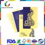 Customized Paper Wedding Invitations Cards with Laser Engraving Decoration