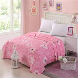 Japan Sakura Flower Cute design Soft Plush Mink Blanket on Bed for Girl Room