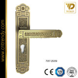 Internal Door Hardware Zinc Lock Handle with Backplate (7057-z6359)