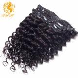 African American Clip in Human Hair Extensions Natural Brazilian Virgin Hair Clip Ins