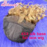 Brazilian Human Hair Full Lace Wig with Silk Top
