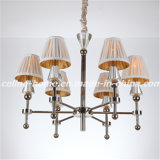 Decorative Iron Chandelier with Fabric Shade (SL2051-6)