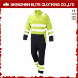 Fluorescent Green Reflective Hi Vis Workwear Safety Coverall (ELTHVCI-20)
