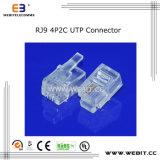 Telephone Connector Rj9 4p2c UTP Connector (WB-RJ9-42U)