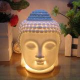 Buddha Head White Ceramic Oil Tart Warmer (CB-05)