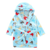 Children′s Cartoon Flannel Nightgown Bathrobe