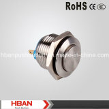 16mm High Head Momentary Type Stainless Steel Pushbutton Switch