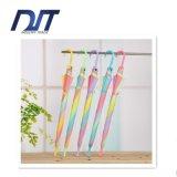 Rainbow Transparent Umbrella Multicolor Splicing Straight Rainbow Umbrella Promotion Gifts