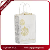 Metallic Elegance Shoppers White Christmas Eco Recycled Kraft Gift Bags with Twisted Handle