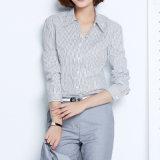 Ladies Women Formal Shirt Designs Cotton Strip Formal Shirt