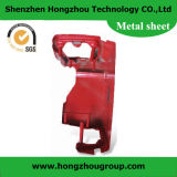 Steel Metal Fabrication with Red Powder Coated