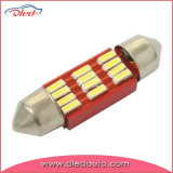 No Error Festoon 42mm 12*4014SMD Canbus LED Dome Light