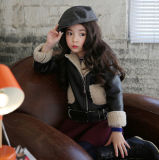 Girl′s PU Jacket with Good Quality