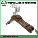 Wood Adult Clothes Hanger with Chrome Swivel Hook (WHG-A07)