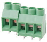 Best Selling PCB Screw Terminal Block with 6.35mm Pitch (WJ635)