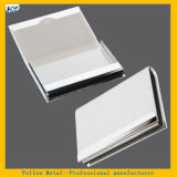 New Arrival Stainless Steel Silver PU Business Credit Card Holder Men Women Metal Bank Card Case Organizer and Business Card Box