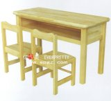 High Quality Solid Wood Double Table and Desk for Children