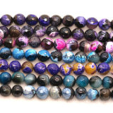 Fashion Gemstone Natural Crystal Double Color Agate Faceted Bead
