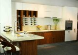 Wood Veneer Lacquer Kitchen Furniture (BR-LV005)