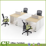 Economical MFC Modular 4 Person Office Workstation with CPU Holder