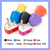 UK 3pin Plug USB Power Adapter Wall Charger for iPhone 6/5/5s/5c